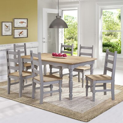 Pinard Solid Wood 7 Piece Dining Set Finish: Gray Wash