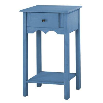 Robertson End Table Color: Blue Wash