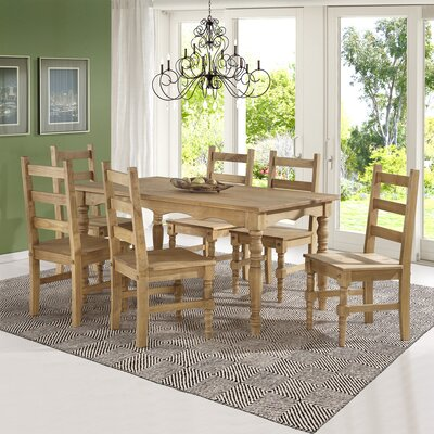 Pinard Solid Wood 7 Piece Dining Set Finish: Nature