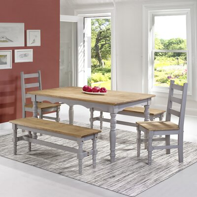 Pinard Solid Wood 5 Piece Dining Set Finish: Gray Wash