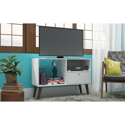 Vreeland 35.43 TV Stand with 1 Drawer and 2 Shelves Color: White