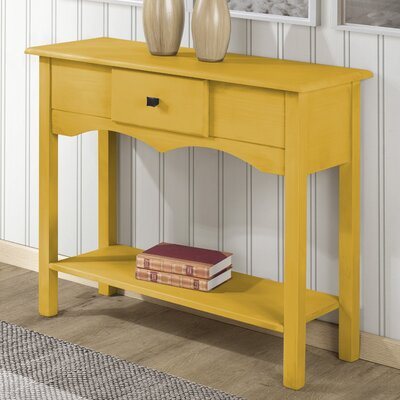 Robertson Tall Sideboard with 1 Full Extension Drawer Color: Yellow Wash