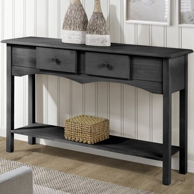 Robertson Entryway Sideboard with 2 Full Extension Drawers Color: Black Wash