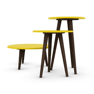 Morristown Mid Century Modern 3 Piece End Table Color: Yellow