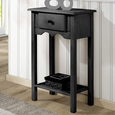 Robertson End Table Color: Black Wash