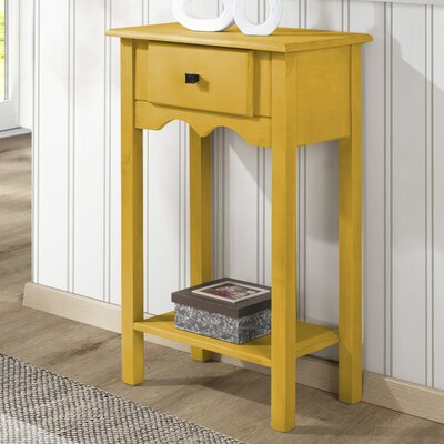 Robertson End Table Color: Yellow Wash