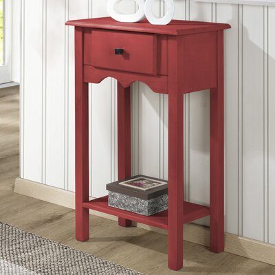 Robertson End Table Color: Red Wash