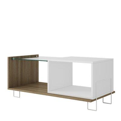 Vuong End Table with 2 Shelves Color: Oak/White