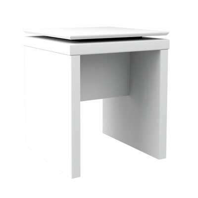 Franklin Square End Table Color: White Gloss