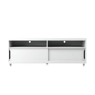 Bridport TV Stand Color: White Gloss, Width of TV Stand: 70.86 W