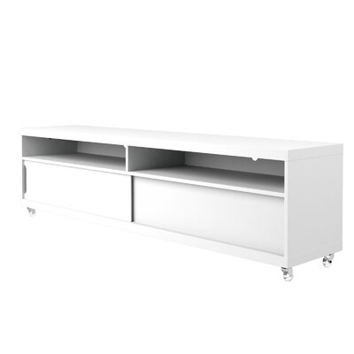 Bridport TV Stand Color: White Gloss, Width of TV Stand: 53.14