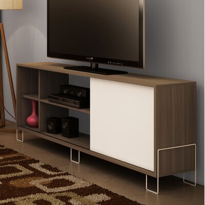 Erica 53 TV Stand Color: Oak/White