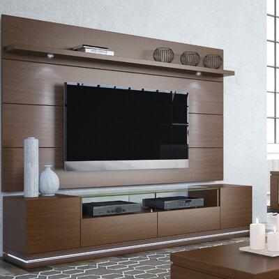 Lasker 85.5 TV Stand Color: Nut Brown