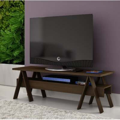 Marlboro 53.15 TV Stand with 1 Lower Shelf Color: Tobacco
