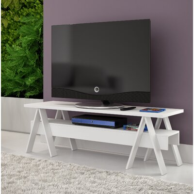 Marlboro 53.15 TV Stand with 1 Lower Shelf Color: White