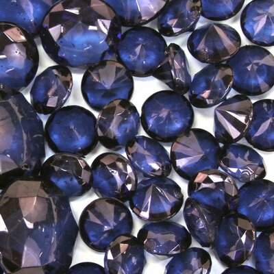 Decorative Global Inspired Acrylic Diamonds Color: Navy Blue