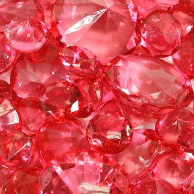 Decorative Global Inspired Acrylic Diamonds Color: Coral