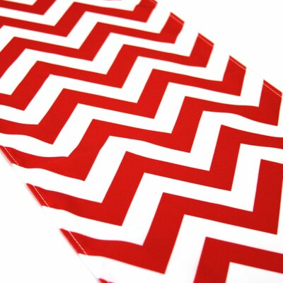 Seibert Chevron Table Runner Color: Red