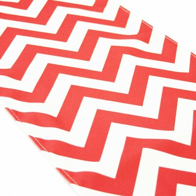 Seibert Chevron Table Runner Color: Coral