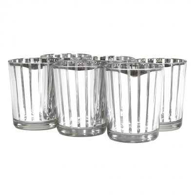 Koyal Wholesale Striped Glass Votive Cup 424479