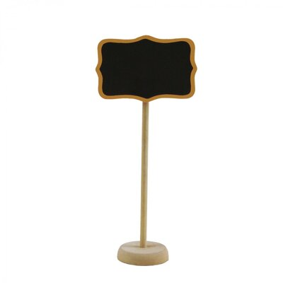 Standing Chalkboard Table Place Card Holder Color: Gold