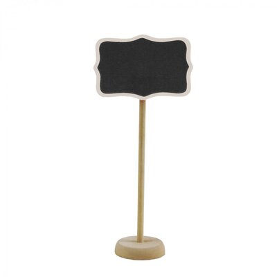 Standing Chalkboard Table Place Card Holder Color: Natural
