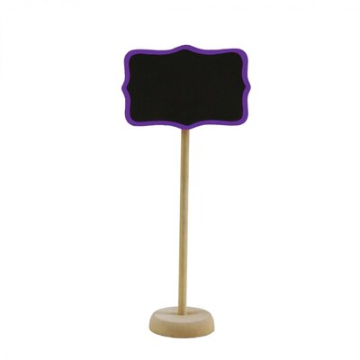 Standing Chalkboard Table Place Card Holder Color: Purple