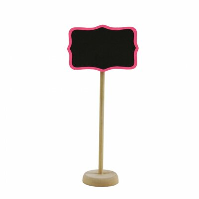 Standing Chalkboard Table Place Card Holder Color: Fuchsia