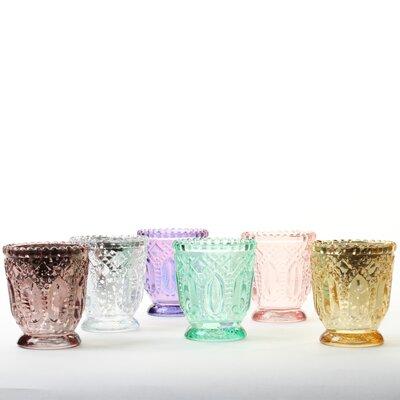 Vintage 6 Piece Glass Votive Holder Set BGRS2923 43107192