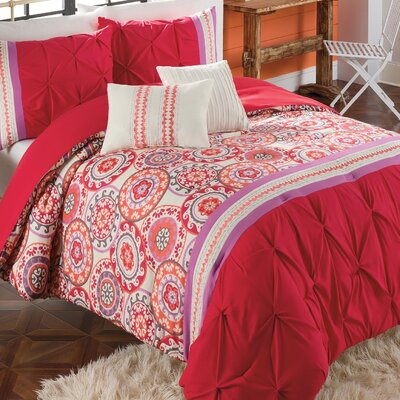 Vue 4 Piece Morocco Fashion Comforter Set - Size: Queen