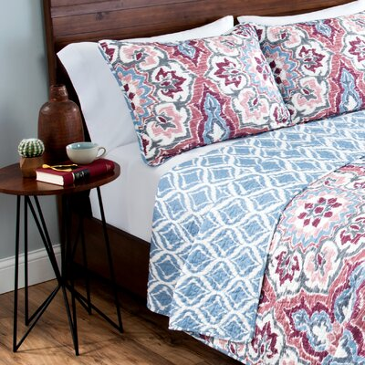 Walker Reversible Quilt Set Size: King
