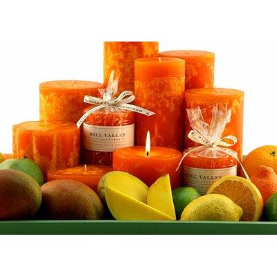 "3 Piece Mango Citrus Scented Pillar Candle Set Size: 4"" H 6829-040-91"