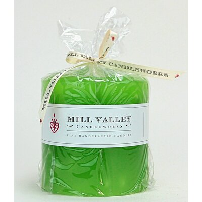 "Tulip Scented Pillar Candle Size: 4"" H x 4"" W x 4"" D 6829-043-06"