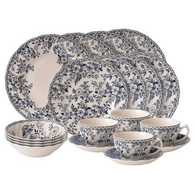 Devon Cottage Place 20 Piece Dinnerware Set, Service for 4 91573583649