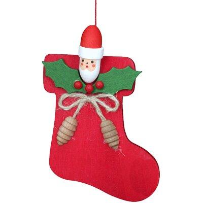 Christmas Stocking with Santa Ornament