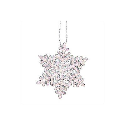 Large Snowflake with Sparkles Ornaments (Set of 2) 10/0383