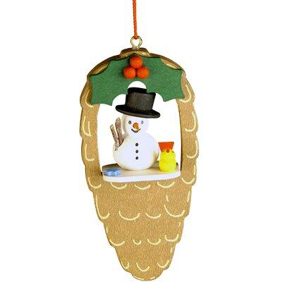 Snowman Pinecone Ornament