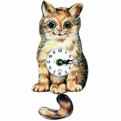Cat Clock with Moving Eyes and Tail