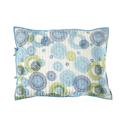 Medallion Cotton Pillow Sham Color: Blue / Green
