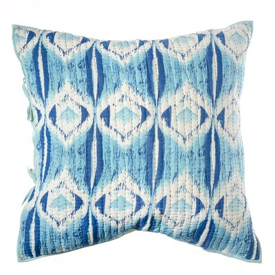 Medallion Cotton Pillow Euro Sham Color: Blue / Green