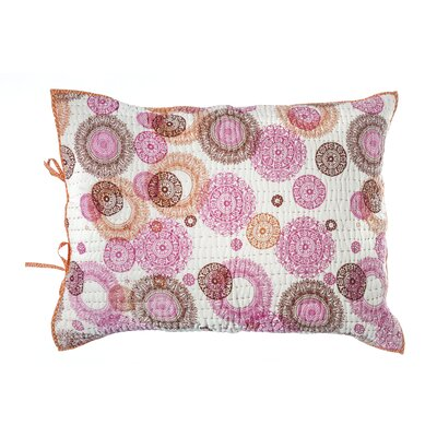 Medallion Cotton Pillow Sham Color: Pink / Orange