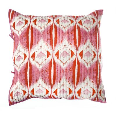Medallion Cotton Pillow Euro Sham Color: Pink / Orange