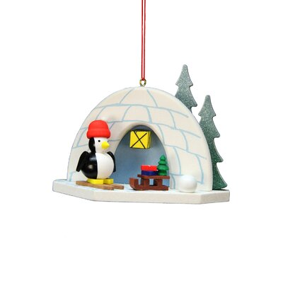 Christian Ulbricht Igloo Penguin Ornament 10-0584