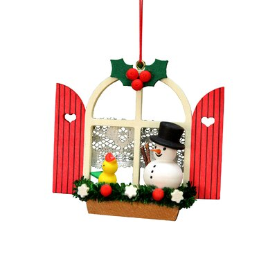 Christian Ulbricht Window with Snowman Ornament