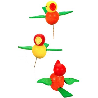 Christian Ulbricht Birds on Pins Ornament (Set of 2)