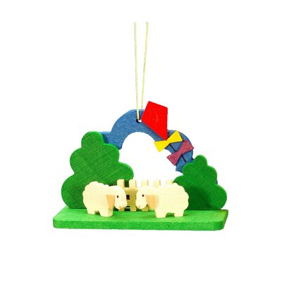 Christian Ulbricht Lambs with Kite Ornament