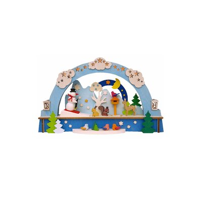 Graupner Christmas Arch with Snowman and LED Lighting Ornament