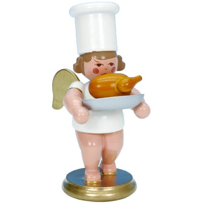Christian Ulbricht Angel Cook Ornament with Roasted Goose 31225