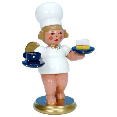 Christian Ulbricht Angel Cook Ornament with Pie and Coffee 31254