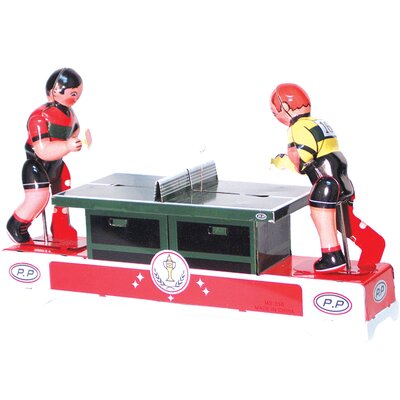 Collectible  Decorative Tin Toy Ping Pong Players MS358